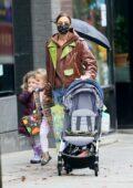 Irina Shayk enjoys a stroll with her daughter Lea in New York City