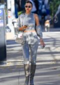 Irina Shayk puts on a stylish display in all-grey ensemble while out running errands in SoHo, New York