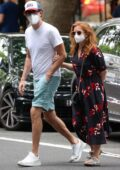 Isla Fisher and Sacha Baron Cohen seen out and about in Woollahra in Sydney, Australia