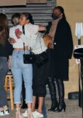 Jasmine Tookes and Lais Ribeiro spotted during a girls night out at Nobu in Malibu, California