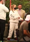 Jennifer Lopez and Alex Rodriguez seen leaving after dinner at Matsuhisa in Beverly Hills, California