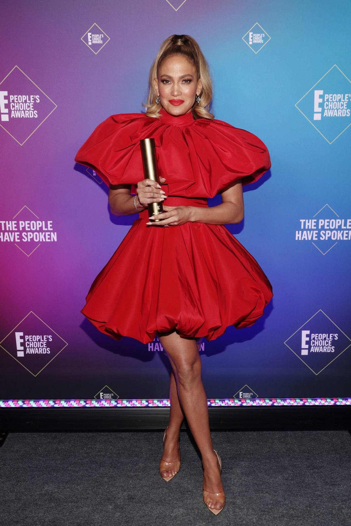 Jennifer Lopez attends the 2020 E! People's Choice Awards at The Barker Hangar in Santa Monica, California