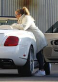 Jennifer Lopez stops by a studio with Alex Rodriguez in Los Angeles