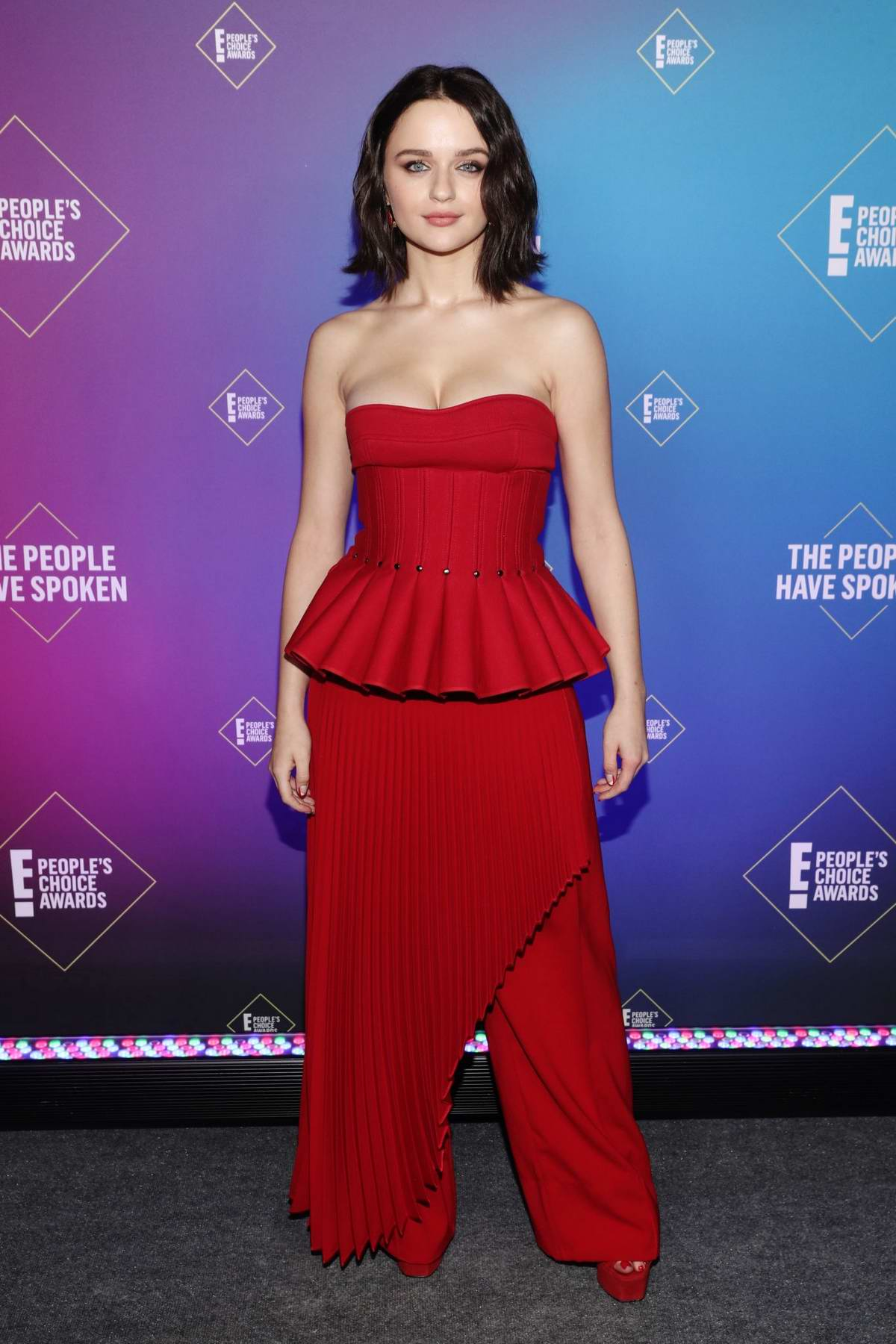 Joey King attends the 2020 E! People's Choice Awards at The Barker Hangar in Santa Monica, California