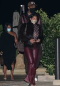 Jordyn Woods enjoys a romantic date with her boyfriend Karl Anthony Towns at Nobu in Malibu, California