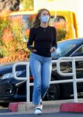 Julianne Hough looks great in a black sweater and tight jeans while running errands in Los Angeles