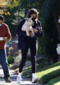 Kaia Gerber and Jacob Elordi grab a juice at Earthbar before stopping at a friend's house in West Hollywood, California
