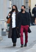 Katie Holmes and boyfriend Emilio Vitolo Jr hold hands as they go shopping at a paint store cold in New York City