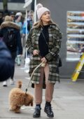 Kelly Brook and Jeremy Parisi take their 5 month old puppy Teddy for a walk in Hampstead, UK