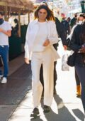 Kendall Jenner looks radiant in all-white as she steps out for lunch with Justine Skye in New York City