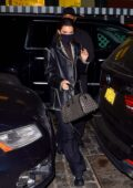 Kendall Jenner rocks all-black as she arrives back from shooting Matthew William's Givenchy campaign in New York City
