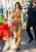 Kendall Jenner stuns in autumn tones while stepping out in New York City