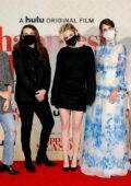 Kristen Stewart, Alison Brie, Mackenzie Davis and Aubrey Plaza attend the Drive-In Premiere of 'Happiest Season' in Los Angeles