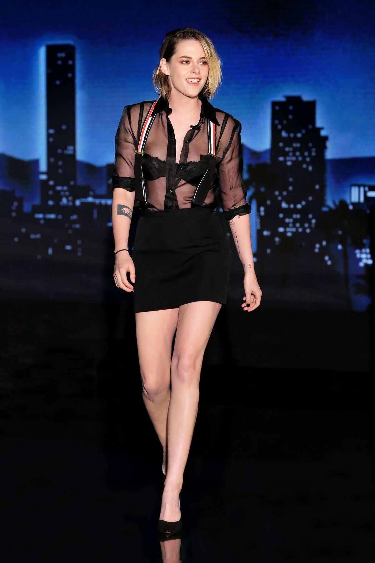 Kristen Stewart makes an appearance on 'Jimmy Kimmel live!' in Los Angeles
