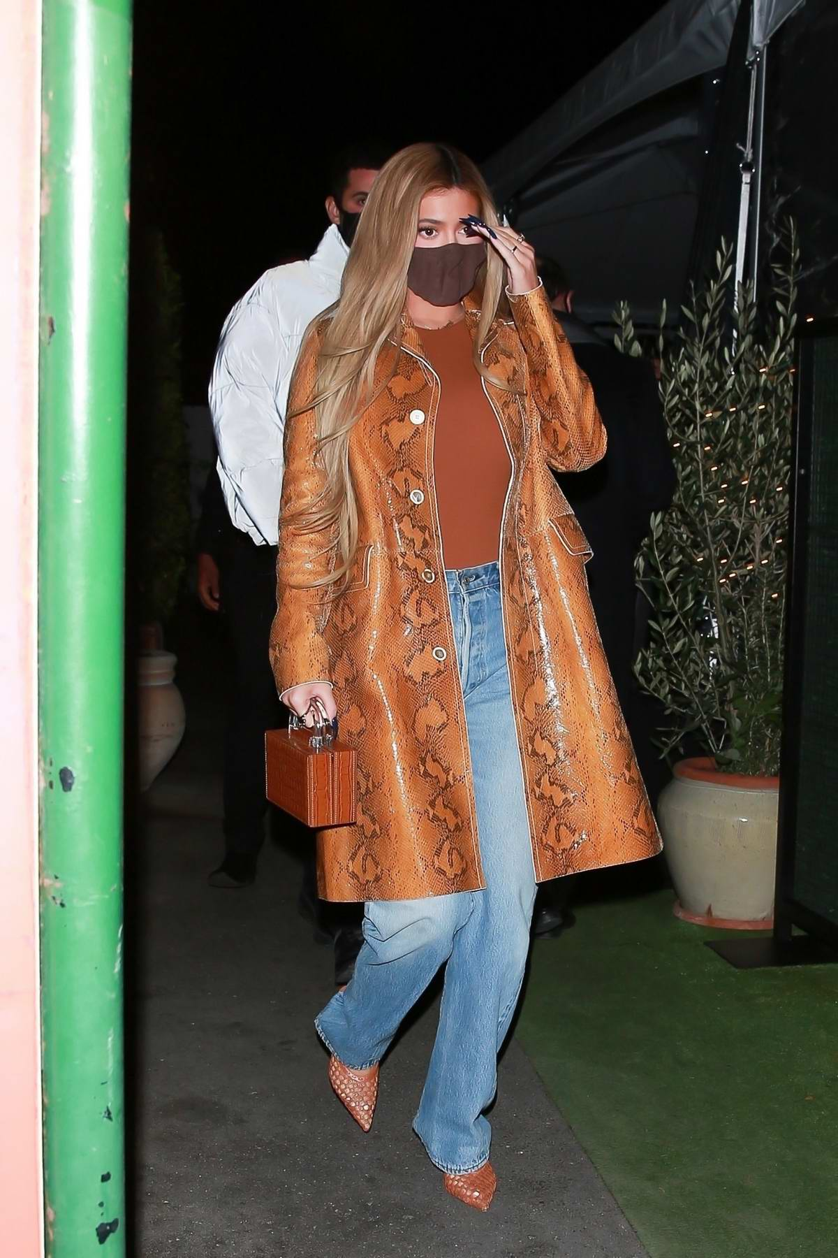 Kylie Jenner looks classy as she steps out for dinner with friends in Santa Monica, California