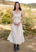 Mackenzie Foy promotes 'Black Beauty' at a press event at Fair Hill Farms in Topanga, California