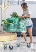 Natalie Portman spotted as she stocks up on vegetables at a Sydney Woolworths in Sydney, Australia