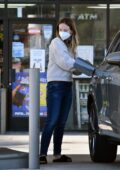 Olivia Wilde seen making a pit stop at a gas station on her way to visit a friend in Los Angeles