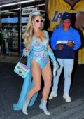 Paris Hilton spotted in Fairy Princess costume as she leaves Kendall Jenner's Halloween party in Santa Monica, California