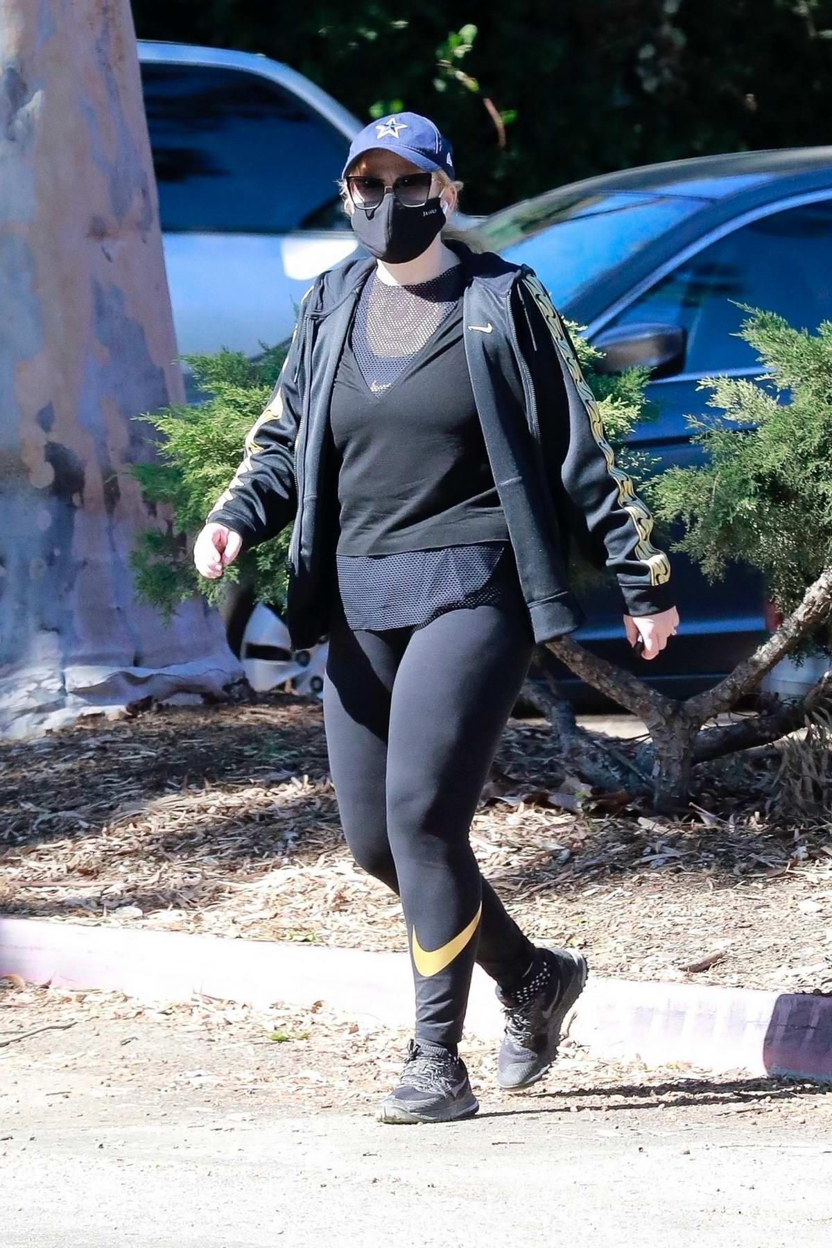 Rebel Wilson sports all-black for a hike at Griffith Park in Los Feliz, California