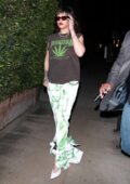 Rihanna shows her new hairstyle as she enjoys a private dinner at Giorgio Baldi in Santa Monica, California