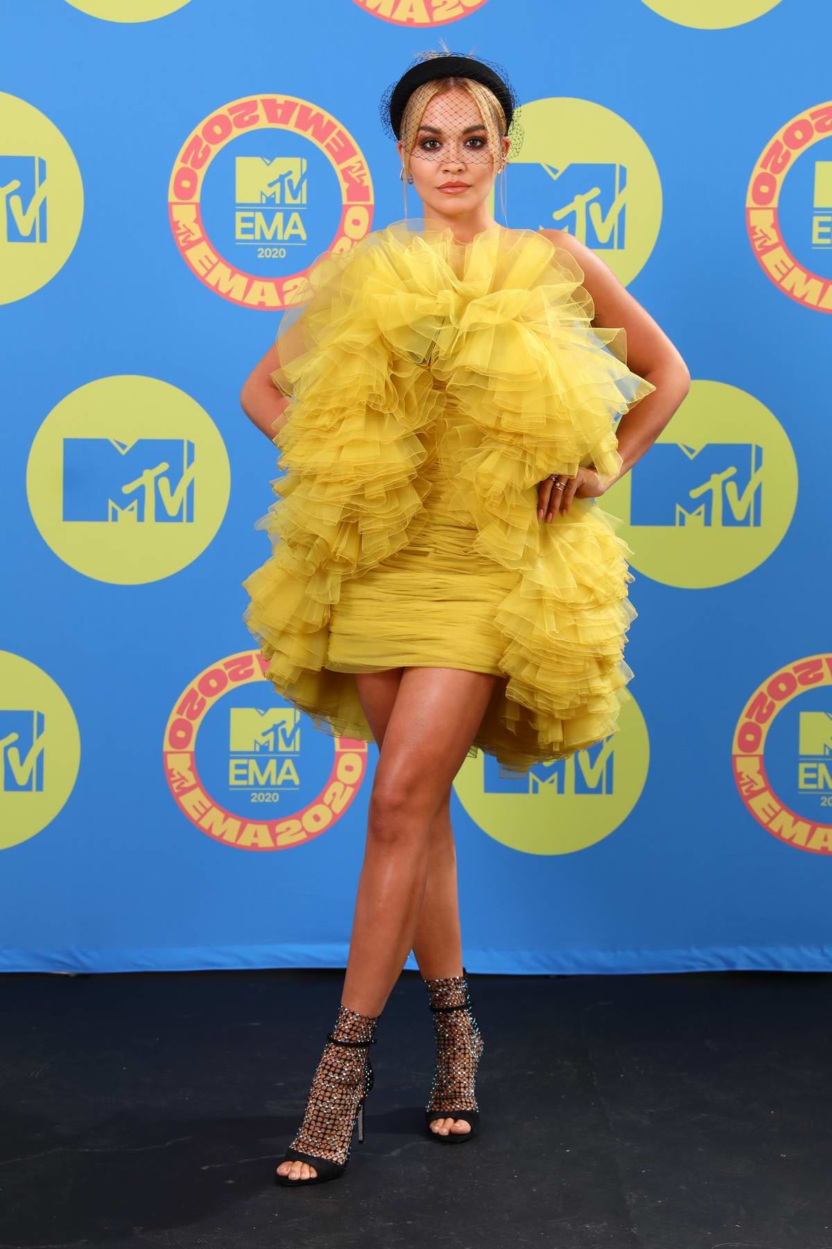 Rita Ora attends the 2020 MTV European Music Awards (MTV EMAs 2020) in London, UK