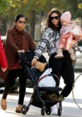 Shay Mitchell takes a walk with her daughter and mother in Vancouver, Canada