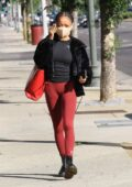 Skai Jackson seen heading into dance practice for semi-finals week at the DWTS studio in Los Angeles