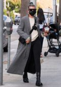 Sofia Richie looks chic as she steps out for lunch with new boyfriend Matthew Morton and friends in Beverly Hill, California
