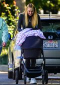 Sophie Turner and Joe Jonas enjoy a morning walk with their daughter Willa in Los Angeles