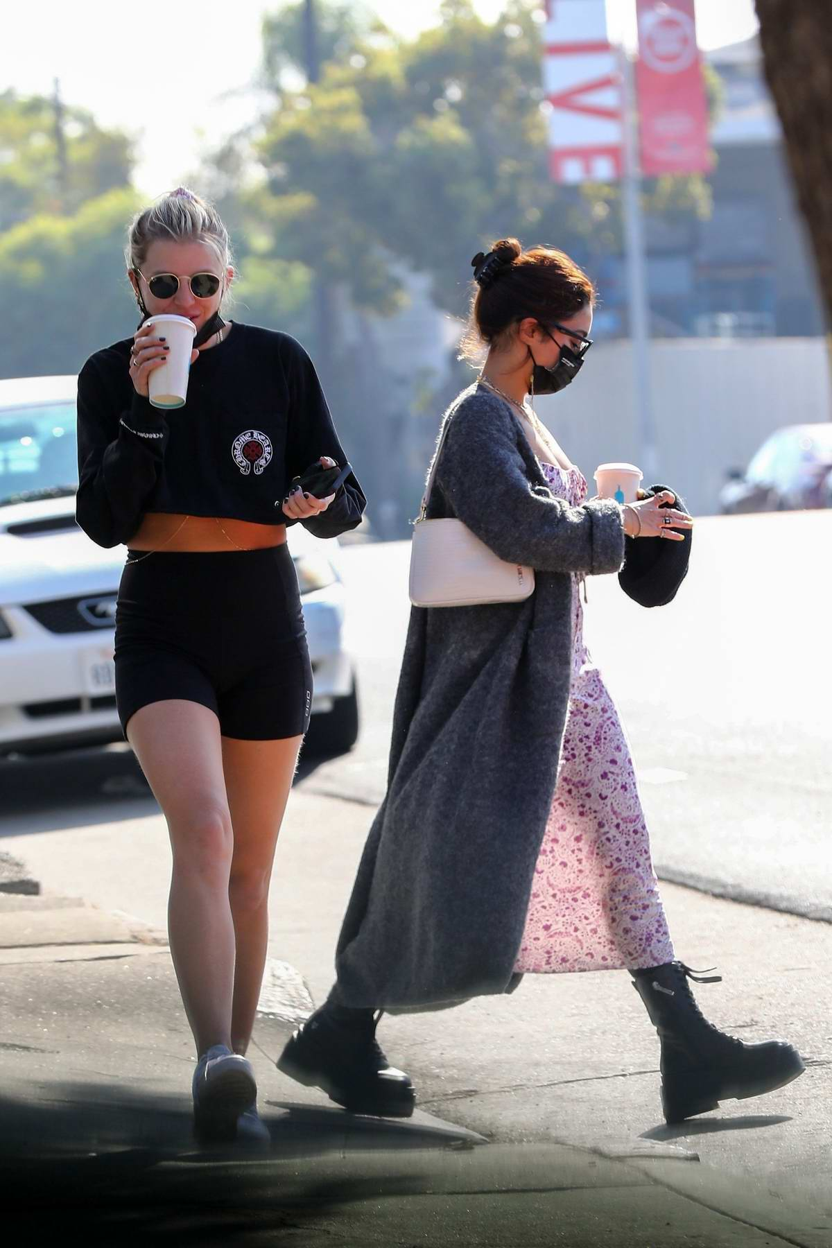vanessa hudgens and her bff gg magree stepped out for ...