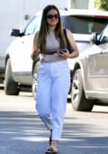 Addison Rae is all smiles as she steps out with a friend for a Matcha in West Hollywood, California