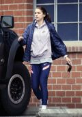 Alex Morgan spotted out with her baby as she picks up donuts and coffee in Los Angeles