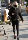 Amber Valletta makes stop at a taco truck while out with a friend in Los Angeles