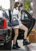 Ana de Armas shows off her legs in white shorts as she arrives at a studio in Hollywood, California