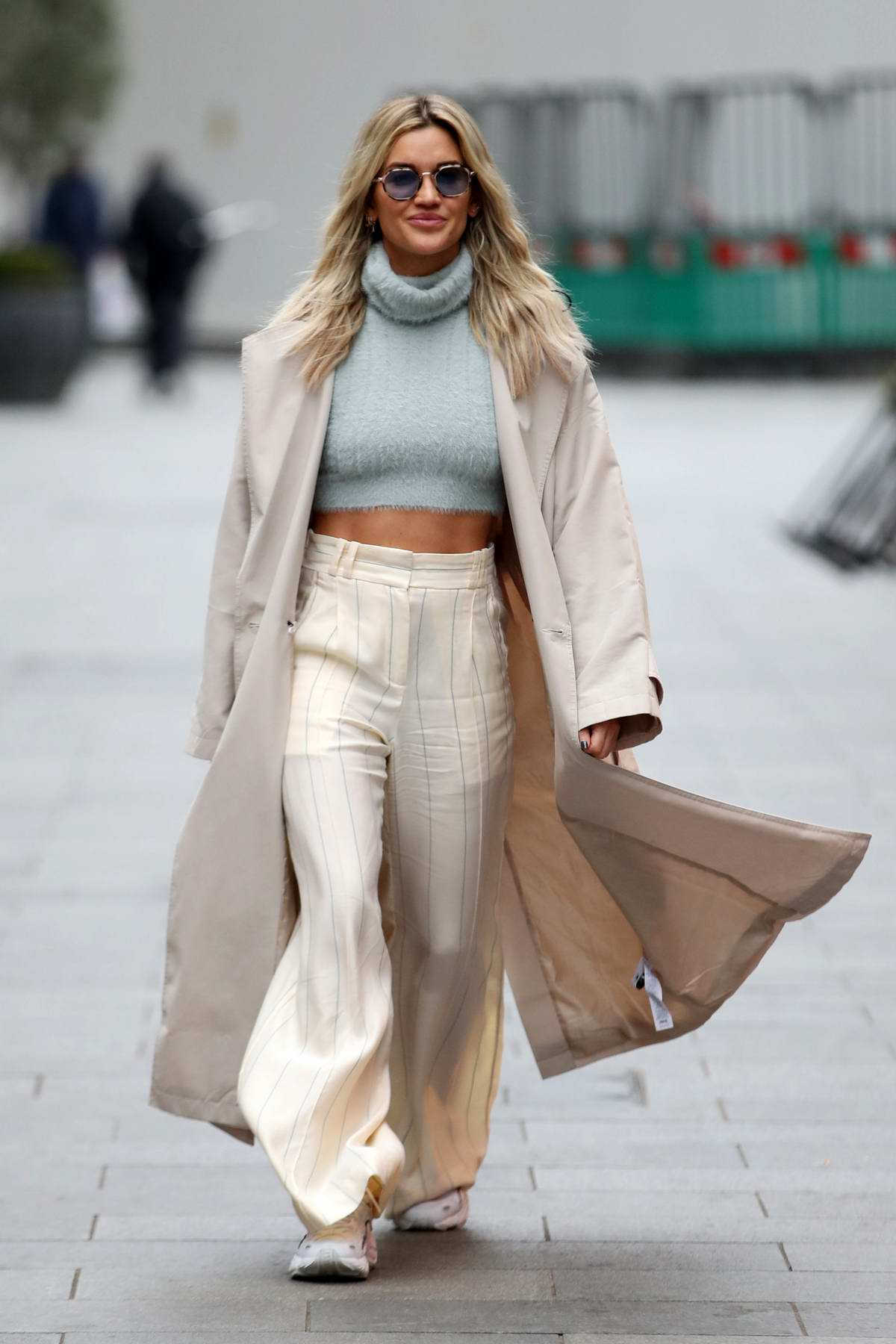 Ashley Roberts looks stylish as she leaves Global Radio Studios in London, UK