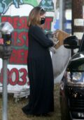 Ashley Tisdale shows her baby bump as she goes holiday shopping with husband Christopher French in Toluca Lake, California