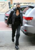 Bella Hadid keeps it stylish while making a stop for a healthy green juice at a supermarket in New York City