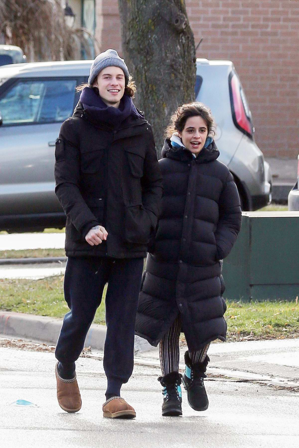 Camila Cabello and Shawn Mendes enjoy a walk in Shawn's hometown of Pickering, Canada