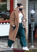 Charli XCX stops at Little Dom's to pick up some food to go with her boyfriend in Los Feliz, Calfiornia