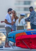Chrishell Stause and Cassie Scerbo enjoy a boat day with their boyfriend Keo Motsepe and Gleb Savchenko in Cabo San Lucas, Mexico