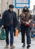 Daisy Edgar-Jones steps out for some last-minute Christmas shopping with her father in London, UK