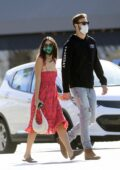Eiza Gonzalez and new boyfriend Dusty Lachowicz hold hands as they step out for some shopping in Los Angeles