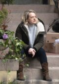 Elisabeth Moss seen on the set of 'The Handmaid's Tale' Season 4 in Hamilton, Ontario, Canada