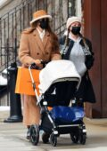 Gigi Hadid steps out for an afternoon walk with her baby daughter in New York City