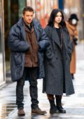 Hailee Steinfeld and Jeremy Renner spotted filming some Christmas scenes for 'Hawkeye' in New York City