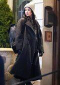 Hailee Steinfeld seen filming a night scene on the set of 'Hawkeye' in New York City