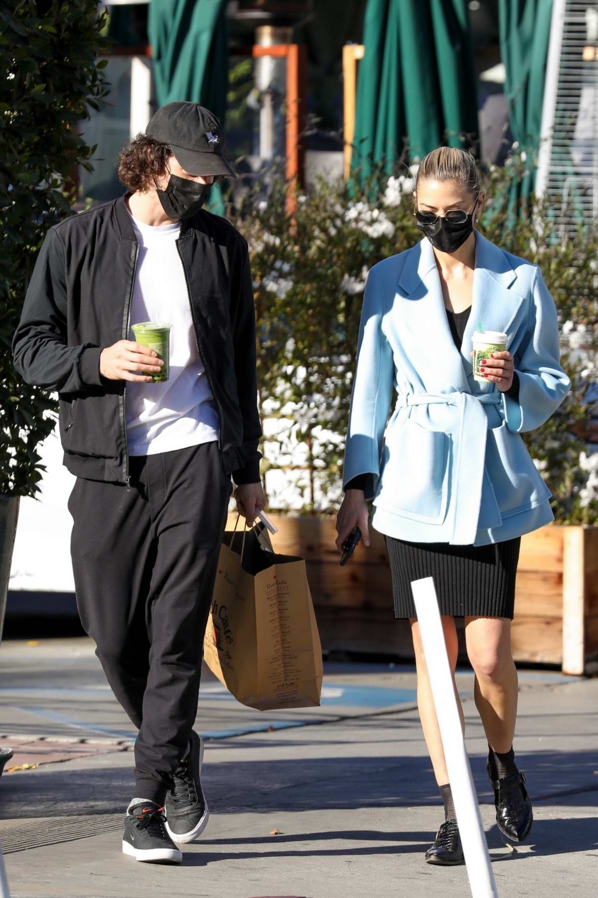 Jaime King and boyfriend Sennett Devermont step out for a mid-day coffee run in West Hollywood, California