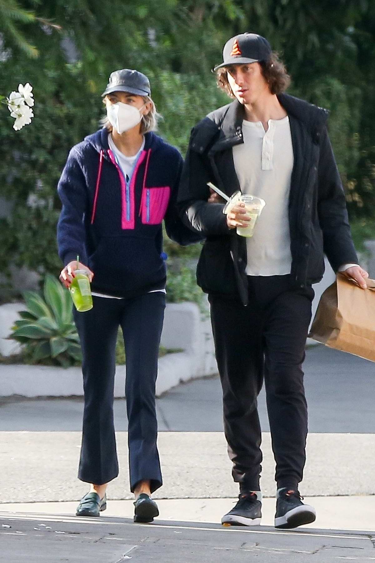 Jaime King steps out holding hands with a mystery man in Los Angeles