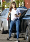 Jennifer Garner sports white tee and jeans while out for some holiday shopping at the Country Mart in Brentwood, California